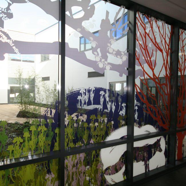 An external window features manifestation graphics