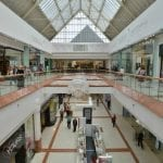 An interior shot of Merry Hill shopping centre, taken from the second floor