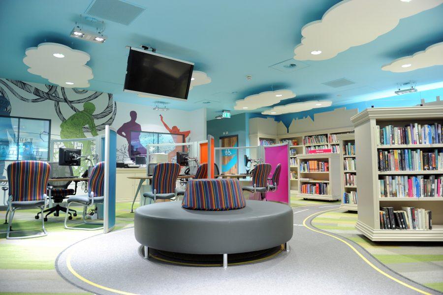 Striking Digital Imaging At New Local Library