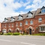Five new build terraced houses in the sunshine